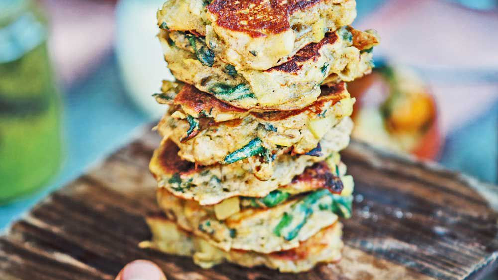 Nonna's leek & spinach fritters