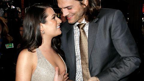 Pics: Ashton Kutcher and Lea Michele's outrageous flirting
