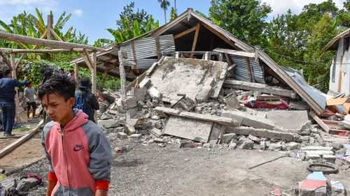 Many houses and businesses were destroyed in last week's quake. Image: AAP
