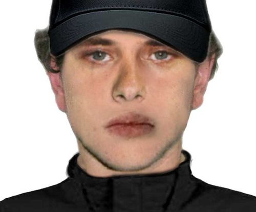A computer generated FACE image of the suspect. (Victoria Police)