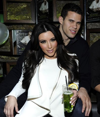 Kim Kardashian and Kris Humphries attends Onitsuka Tiger And RCA Records Present The Release Of Avril Lavigne's Goodbye Lullaby at SL on March 8, 2011 in New York City.