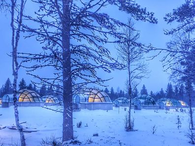 Glass igloos in Finnish Lapland