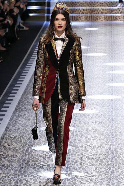 Rose Gilroy at Dolce & Gabbana