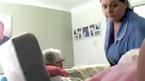 Susan Draper did not know she was being filmed. (Screen grab)