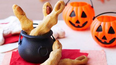 "Recipe:&nbsp;<a href=""http://kitchen.nine.com.au/2016/05/16/15/02/witches-fingers"" target=""_top"">Witch fingers</a>"