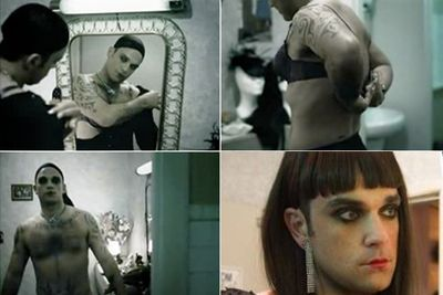 Never one to be accused of shyness, Robbie let his inner diva shine through in the music video for 'She's Madonna'.