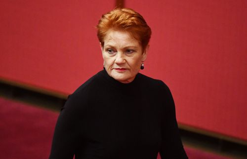 Pauline Hanson blasted the ceremony and said she's tired of feeling like a second-class citizen in her own country. (AAP)