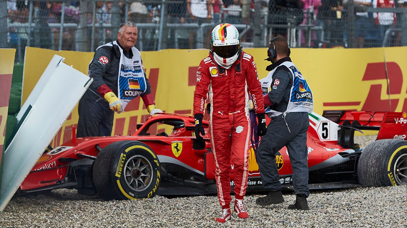 Sebastian Vettel's crash hands Lewis Hamilton F1 championship lead