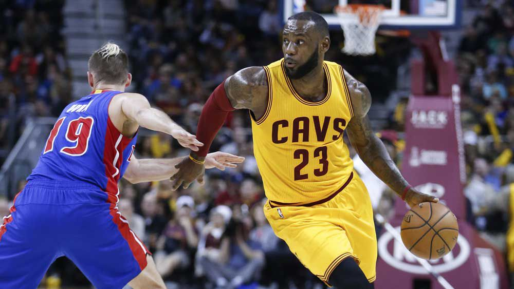 LeBron James returned to inspire the Cavaliers in the NBA. (AAP)