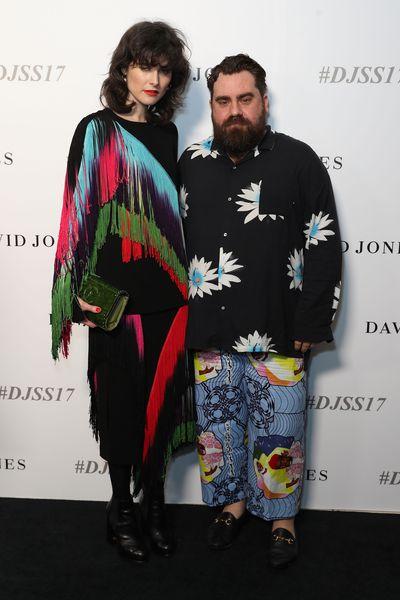 Anna Plunkett and Luke Sales, Romance Was Born, David Jones spring/summer '17 launch, Sydney