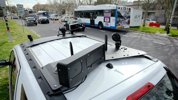 A vehicle fitted with a speed camera that can fine up to six drivers a second.