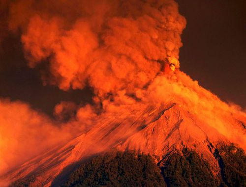 The Volcano of Fire in Guatemala lived up to its name with a fierce eruption.