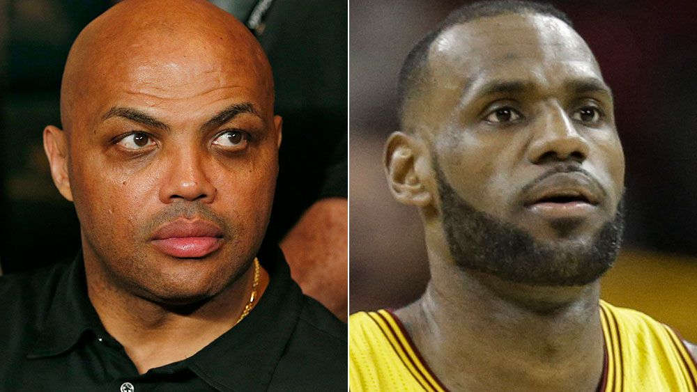 Charles Barkley and LeBron James. (AAP)