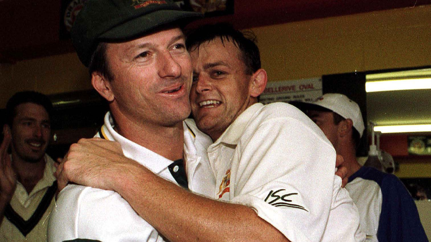 Adam Gilchrist and Steve Waugh