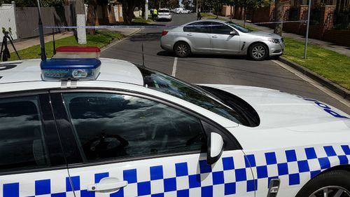 """A group of """"three to five men"""" were involved in the robbery. (9NEWS)"""