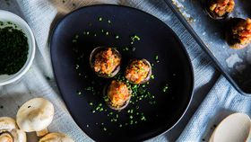 The Giles' Speck and Blue Cheese Stuffed Mushrooms