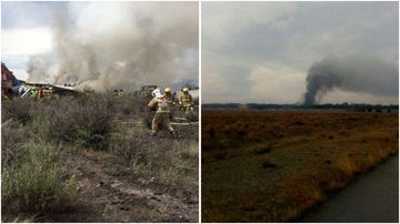 Ten crew were killed when a Boeing cargo plane crashed near payam International Airport this morning.