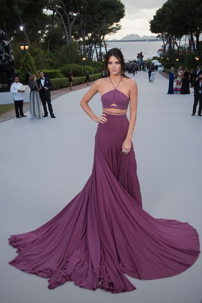 <p>Kendall Jenner wore Calvin Klein to the amfAR Cinema Against AIDS event in Cannes last night. As&nbsp;one of the premier couture events of the year, the red carpet&nbsp;never fails to impress. This year's gala includes a runway show curated by&nbsp;legendary fashion editor Carine Roitfeld and music by Mark Ronson.&nbsp;</p>