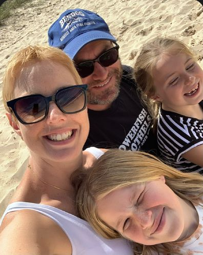 Dennielle cancer bushfires Good360 with two daughters