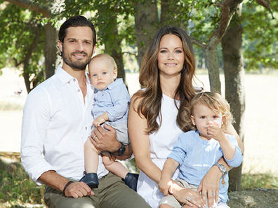 Prince Carl Philip and Princess Sofia with their two sons