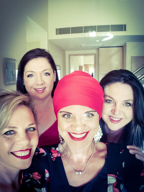 Sam is thankful to have the support of her sisters Penni, Kimberley and Kylie as she battles with her diagnosis.
