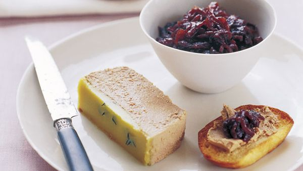 Duck liver parfait with red onion jam