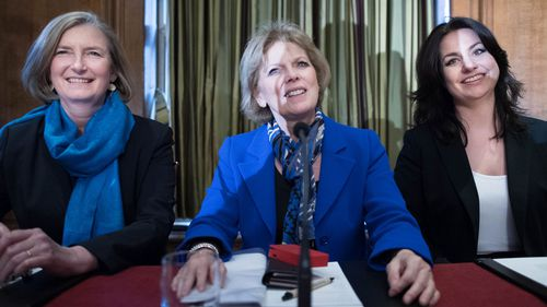 MPs (left to right) Sarah Wollaston, Anna Soubry and Heidi Allen resigned from the Conservative Party.