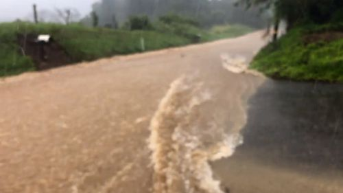 Carlos Garcia recorded the video and said he is about a mile away from Kaupakalua Dam, which is in danger of failure.