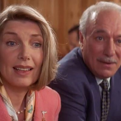 Susan Sullivan and Philip Bosco as Walter and Isabelle Wallace: Then