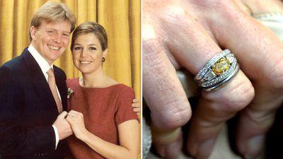 Queen Maxima's orange diamond ring