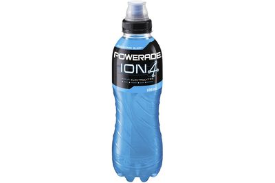 Powerade Ion4 Mountain Blast (600ml): 35g sugar