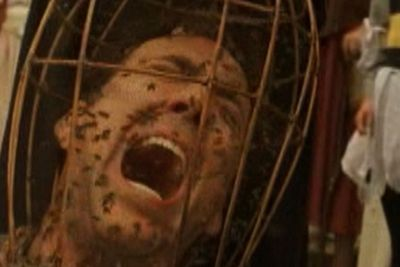 <b>Movies:</b><i> The Wicker Man</i> and more<br/>So he went broke and needs to pay the bills. But how far does ol' Nico have to go until his fans give up on him for good? Case in point: 2006's totally unnecesary remake<i> The Wicker Man</i> got Nicolas caged in a mask of bees and offered up as a sacrifice to a giant wicker man. We won't even get started on<i> The Weather Man, Bangkok Dangerous, Season of the Witch, Knowing ...</i>