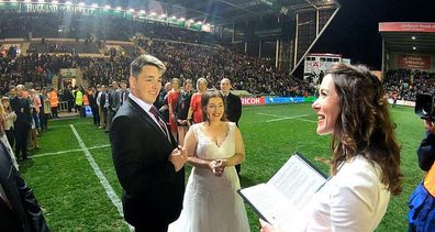 Bride furious after groom forgets to invite family for rugby pitch wedding