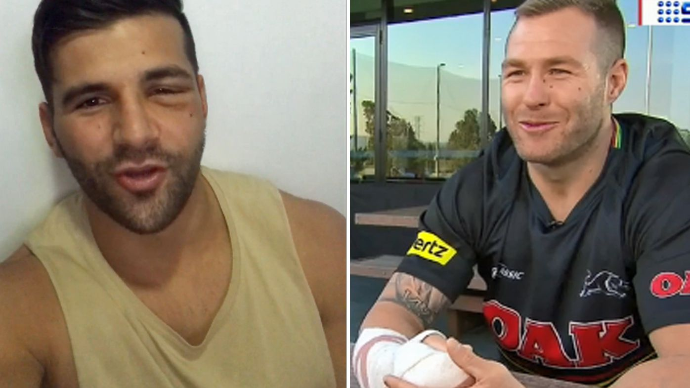 Injured Penrith Panthers Josh Mansour and Trent Merrin on the mend