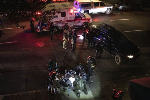 One person is dead after a shooting during protests in downtown Portland on Saturday night (local time).