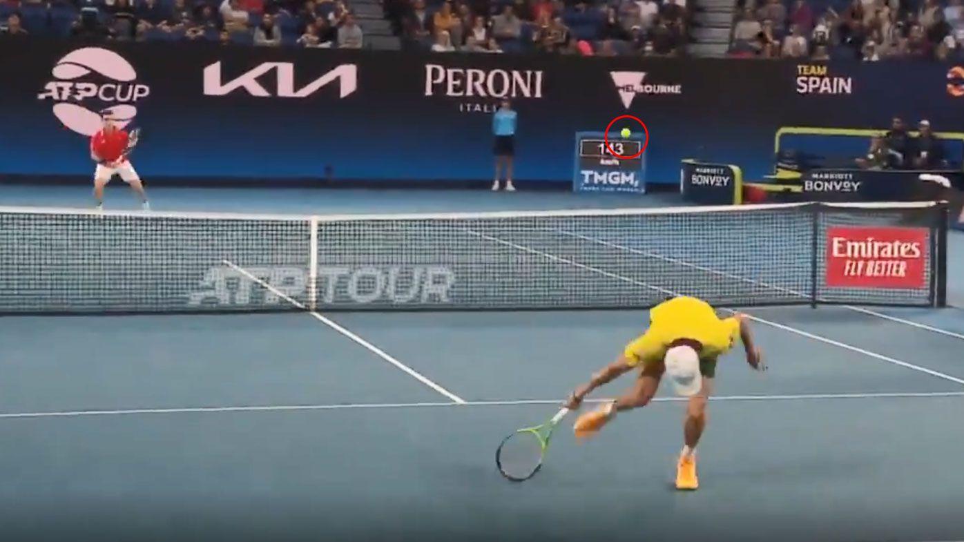 'Amazing' no-look Alex de Minaur shot stuns legend during insane ATP Cup rally