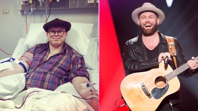 Timothy James Bowen (Left pic: Timothy's Instagram, right pic: Nine/ITV)