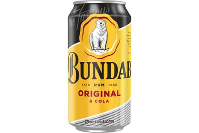 Bundaberg U.P. Rum & Cola (375ml): 998kj