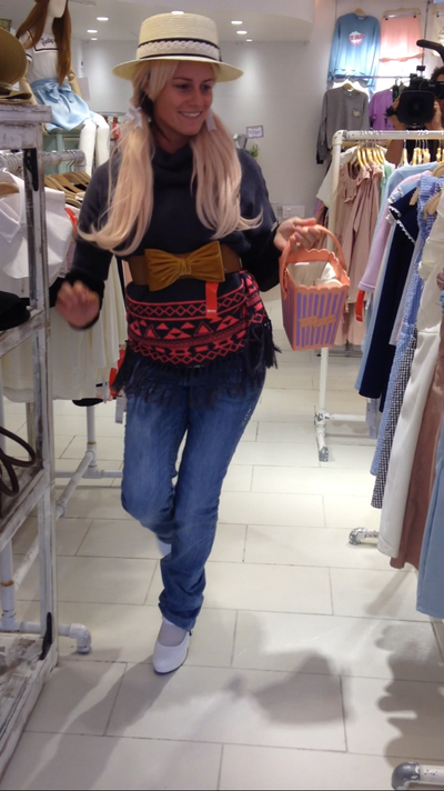 Getting in the spirit of things in Harajuku.