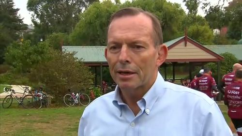 Tony Abbott has continued to speak out on policies including coal-fired power stations.