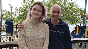 Carys Fletcher, pictured with her father James Fletcher.