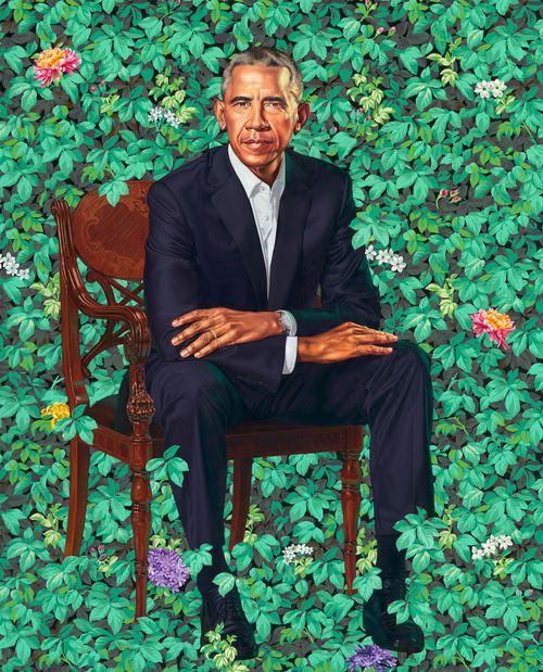 The official portrait of former US President Barack Obama. (AP)