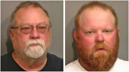 Gregory McMichael, left, and his son Travis McMichael, have been charged with murdering Ahmaud Arbery.