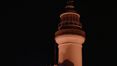 The Byron Bay lighthouse glowed red in honour of Théo Hayez.