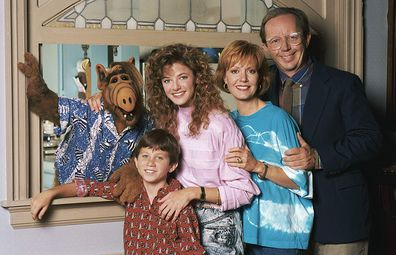 Andrea Elson, Benji Gregory, Anne Schedeen and Max Wright in ALF