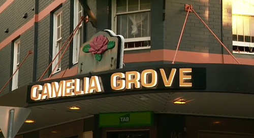 Police were called to the Camelia Grove Hotel in Alexandria this afternoon after reports an elderly man had been stabbed.