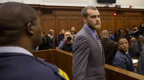 Last month a South African court found van Breda guilty of murdering his mother, father and brother, as well as the attempted murder of his sister. Picture: AP