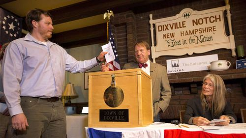 Democratic candidate Hillary Clinton beat Republican Donald Trump 4-2 in Dixville Notch, the first place in America to announce its election results.