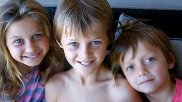 Mo, Evie and Otis Maslin, who were killed on flight MH17 when their plane was shot down over Ukraine after returning from a holiday to Amsterdam.