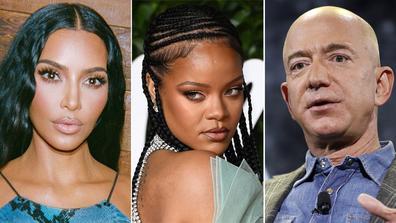 Kim Kardashian, Rihanna, Jeff Bezos